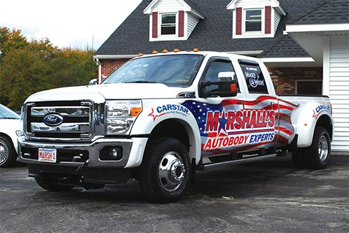 MARSHALL'S AUTOBODY TRUCK WRAP