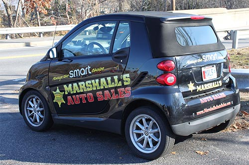 MARSHALL'S AUTO SALES CAR GRAPHICS