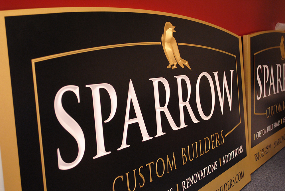 SPARROW'S CUSTOM CARVED SIGN