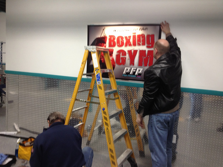 PFP BOXING GYM SIGN