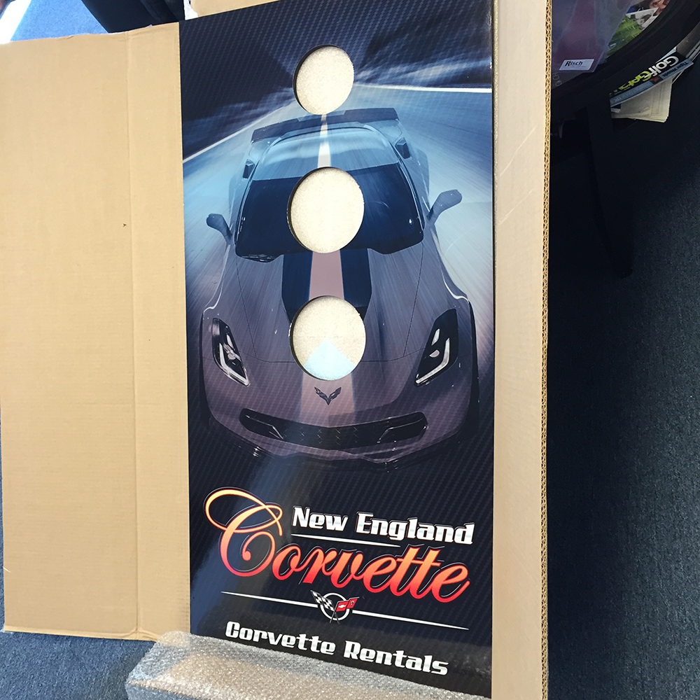 NE CORVETTE CUSTOM CORN HOLE